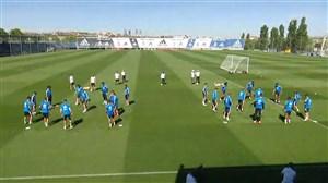 تمرین امروز بازیکنان رئال مادرید (21-02-98)