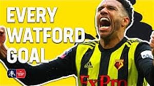 تمام گلهای تیم واتفورد در جام FA CUP
