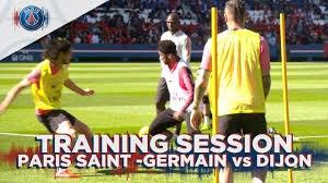 آخرین تمرین بازیکنان پاری سن ژرمن پیش از بازی با دیژون