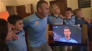 خوشحالی هواداران اف سی سیدنی پس از گل قهرمانی توسط قوچان نژاد