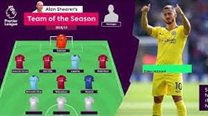 تیم منتخب آلن شیرر در پایان فصل 19-2018 لیگ جزیره