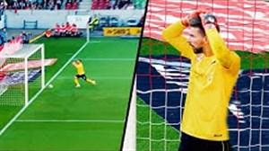 اشتباهات خنده دار دروازبانها در زمین فوتبال