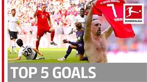 پنج گل برتر هفته 34 بوندسلیگا آلمان 2019