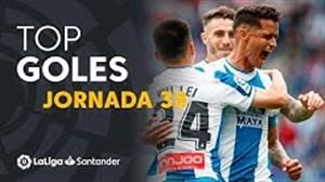 تمامی گلهای هفته 38 لالیگا اسپانیا 19-2018