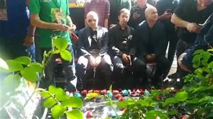 اختصاصی: حاشیه مراسم یادبود ناصر حجازی