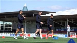 تمرینات امروز تیم ملی انگلیس (03-03-98)