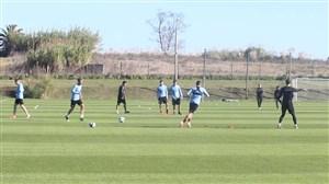 تمرین امروز بازیکنان تیم ملی اروگوئه ( 03-03-98)