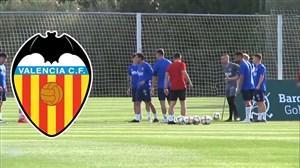 آخرین تمرین والنسیا پیش از تقابل با بارسلونا