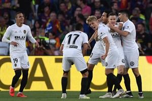 گل اول والنسیا به بارسلونا (کوین گامیرو)