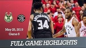 خلاصه بسکتبال تورنتو رپتورز - میلواکی باکس (بازی ششم)