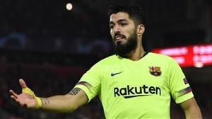 گل اول بارسلونا به ختافه (لوئیس سوارز)