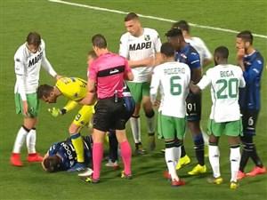 درگیری شدید بازیکنان آتالانتا با ساسولو