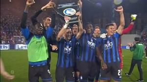 خوشحالی بازیکنان آتالانتا از صعود به لیگ قهرمانان