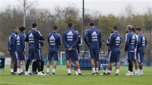 تمرینات آماده سازی تیم ملی آرژانتین (06-03-98)