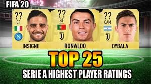قدرت بازیکنان سری آ در بازی فیفا 20