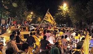 حضور شبانه و پرشور هواداران مقابل هتل سپاهان