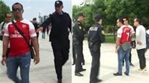 برخورد پلیس باکو با هواداران میختاریان در سطح شهر