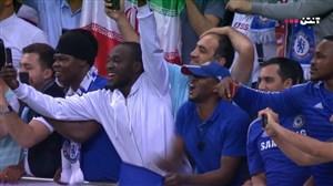 پرچم ایران در جشن قهرمانی چلسی در لیگ اروپا