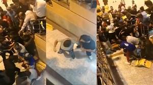 کتک کاری شدید در بازی تیم ۹۸ و تیم پارس جنوبی در مسابقات جام رمضان