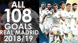 تمامی گلهای رئال مادرید در فصل 19-2018