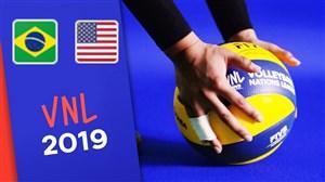 خلاصه والیبال آمریکا 0 - برزیل 3 (لیگجهانی)