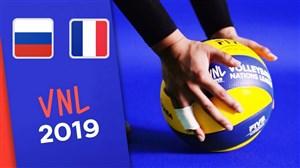 خلاصه والیبال فرانسه 3 - روسیه 1 (لیگ جهانی)