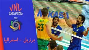خلاصه والیبال برزیل 3 - استرالیا 2 (لیگ ملت های والیبال)