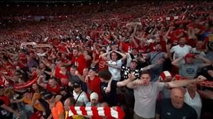 همخوانی هواداران لیورپول در شب قهرمانی