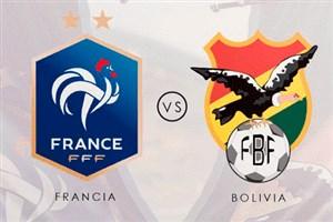 خلاصه بازی فرانسه 2 - بولیوی 0 (دوستانه)