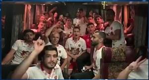 اتوبوس پرسپولیس پس از قهرمانی جام حذفی