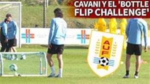 تمرینات تیم ملی اروگوئه با حضور کاوانی