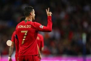 گل دوم پرتغال به سوئیس(دبل رونالدو)