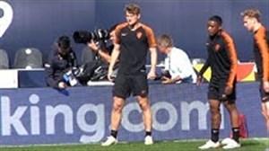 تمرین تیم ملی انگلیس برای نبرد با هلند
