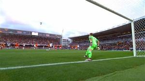 گل اول انگلیس به هلند (پنالتی+راشفورد)