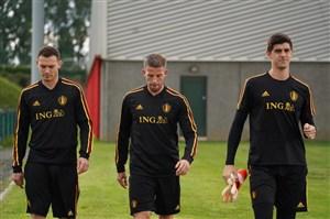 تمرین امروز تیم ملی بلژیک (17-03-98)