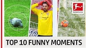 لحظات خنده دار و بامزه در بوندسلیگا 19-2018