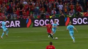 گل اول پرتغال به هلند (گونسالو گوئدس)