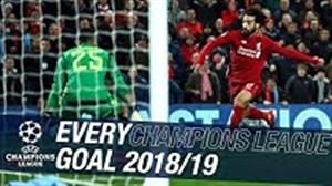 تمام گلهای لیورپول در لیگ قهرمانان اروپا 19-2018