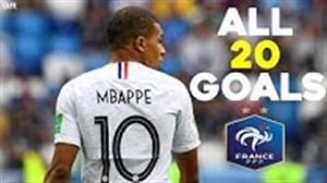 تمام 20 گل کیلیان امباپه در تیم ملی فرانسه