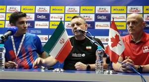 کنفرانس خبری سرمربیان ایران و کانادا پیش از بازی فردا