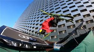 حرکات نمایشی دیدنی با اسکی روی چمن