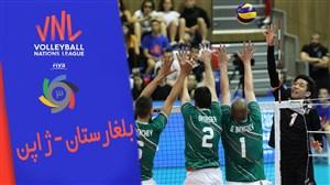 خلاصه والیبال بلغارستان 2 - ژاپن 3 (لیگ ملتهای والیبال)