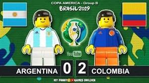 شبیه سازی بازی آرژانتین کلمبیا با لگو