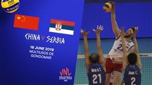 خلاصه والیبال صربستان 3 - چین 1 (لیگملتهایوالیبال)