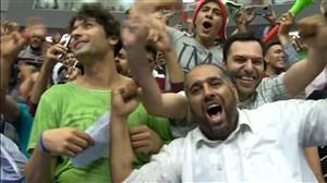 جو فوق العاده غدیر ارومیه بعد از امتیاز پایانی ایران در ست دوم