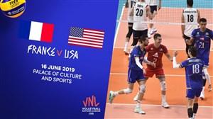 خلاصه والیبال فرانسه 1 - آمریکا 3 (لیگملتهایوالیبال)