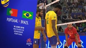 خلاصه والیبال پرتغال 0 - برزیل 3 (لیگ ملت های والیبال)
