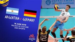 خلاصهوالیبالآرژانتین 3- آلمان 2 (لیگملتهایوالیبال)