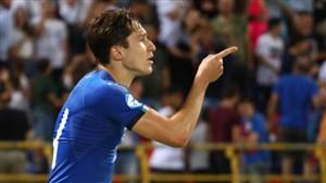 گل انفرادیو زاویهبسته کیهزا برابر اسپانیا (یورو U21)