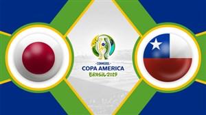 خلاصه بازی ژاپن 0 - شیلی 4 (کوپا آمریکا)